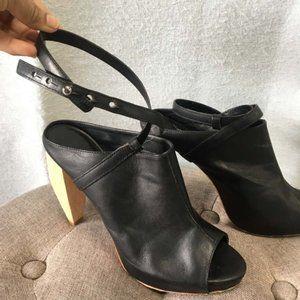 LOEFFLER RANDALL Leather Ginevra Boot Heels RP$495